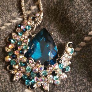 Stunning Blur Topaz Pendant Necklace